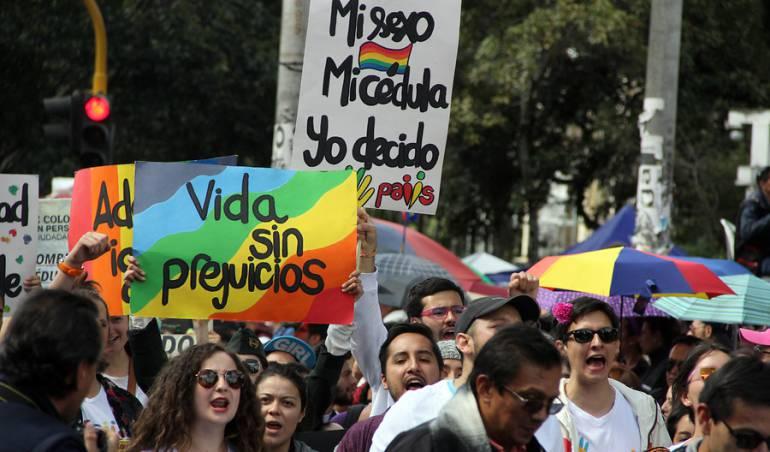 Marcha contra la discriminación de la comunidad LGTBI