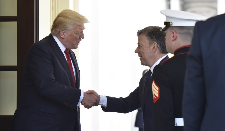 Encuentro Santos Trump: ¿Cómo fue la llegada de Santos a la Casa Blanca?
