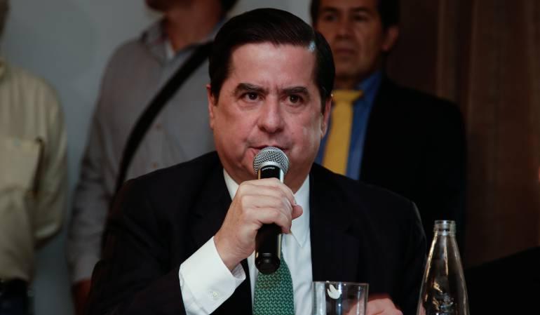 Ministro del interior, Juan Fernando Cristo.