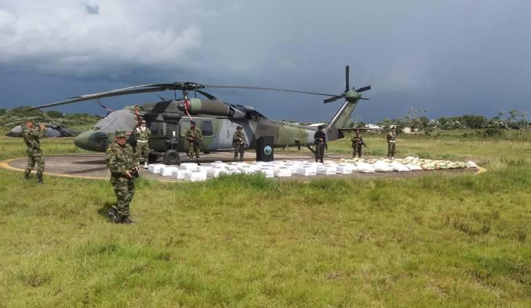 Cocaína incautada a disidencia de las Farc en Guaviare