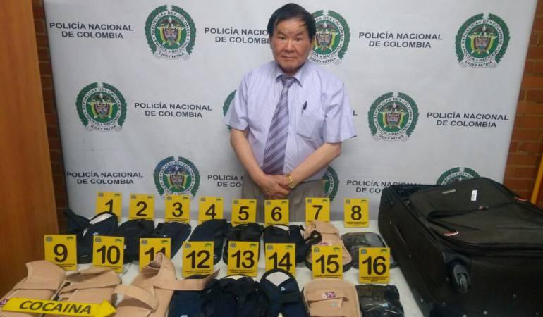 Detienen en Colombia a un asiático con cocaína oculta en chanclas ortopédicas