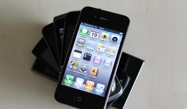 Iphone 4 en funcionamiento.