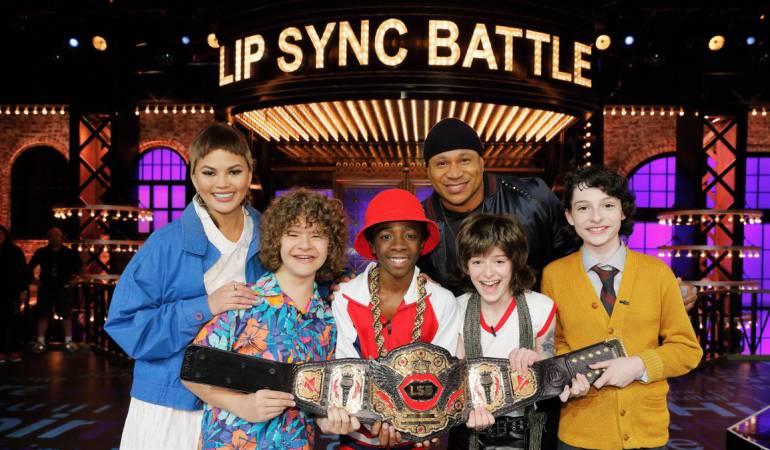 """Protagonistas de """"Stranger Things"""" junto a los presentadores de """"Lip Sync Battle"""""""