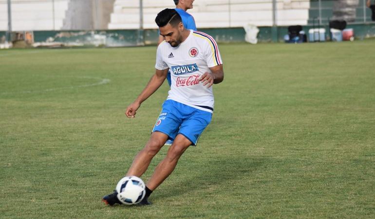 Falcao ya entrena con Colombia en Murcia