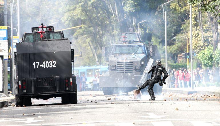 ESMAD en Buenaventura: Lamento falsas acusaciones contra la Fuerza Pública en las manifestaciones: Santos