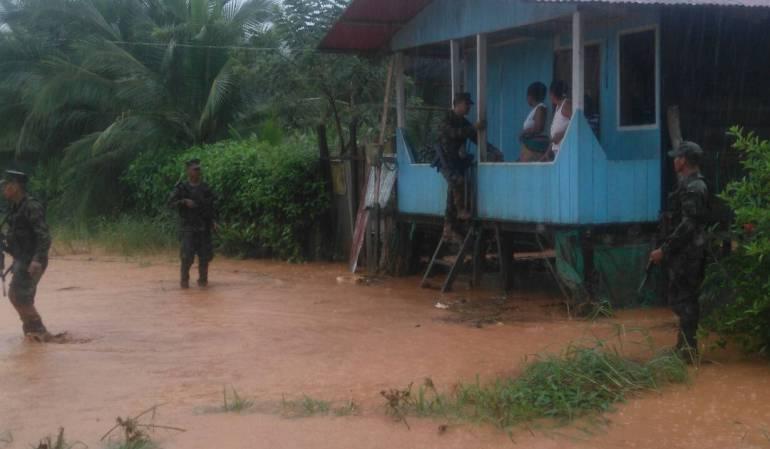 Cientos de familias damnificadas por inundaciones en Bahía Solano, Chocó