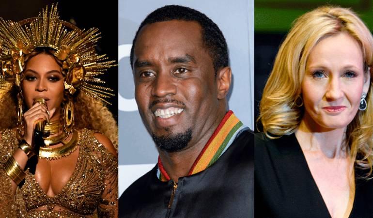 La cantante Beyonce y la escritora JK Rowling son las únicas mujeres entre las 10 personas que más ganaron en 2016.