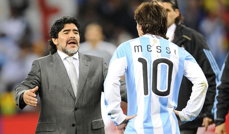 Messi Maradona Cristiano: A mí me gusta más Messi que Cristiano, pero no lo pasa por arriba: Maradona