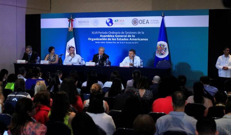 Crisis Venezuela OEA: Comienza la reunión de cancilleres de la OEA sobre Venezuela en Cancún