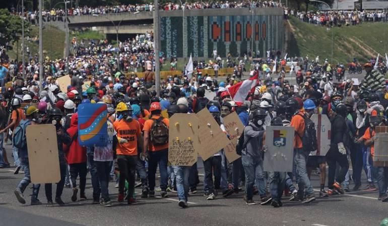 Protesta opositora