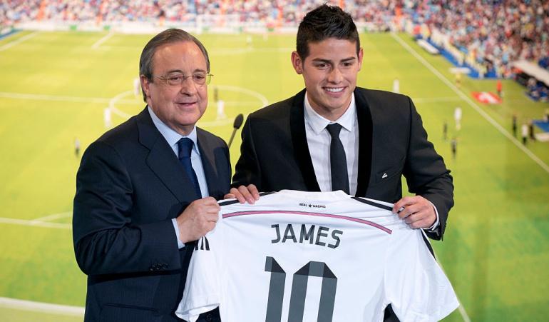 Florentino Pérez James Rodríguez: Florentino Pérez cuenta con James en el Real Madrid