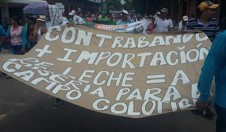 Protesta de lecheros en Caquetá