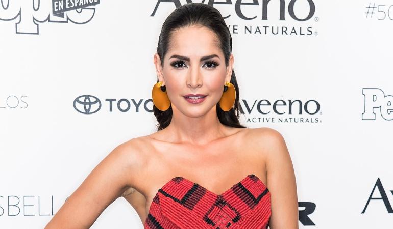 """La actriz colombiana Carmen Villalobos en una gala de la revista """"People"""" en español."""