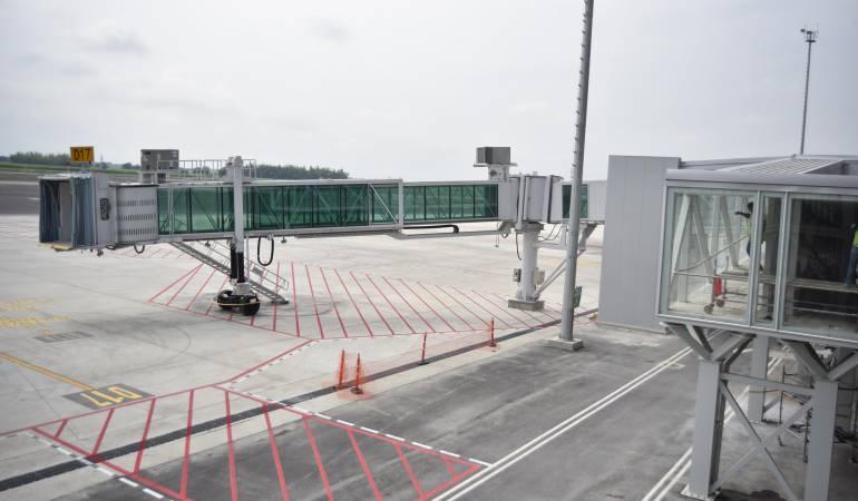 Inauguración aeropuerto Alfonso Bonilla Aragón.