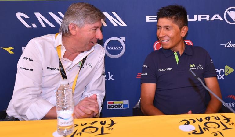 Eusebio Unzúe Nairo Quintana Movistar: Veremos a un Nairo más brillante en el Tour: Director del Movistar