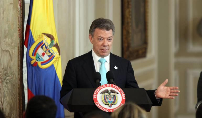 Juan Manuel Santos dice que Nicolás Maduro quiere desviar la atención