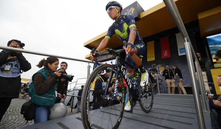 Nairo Quintana Tour de Francia: Se siente el hueco de Valverde: Nairo Quintana