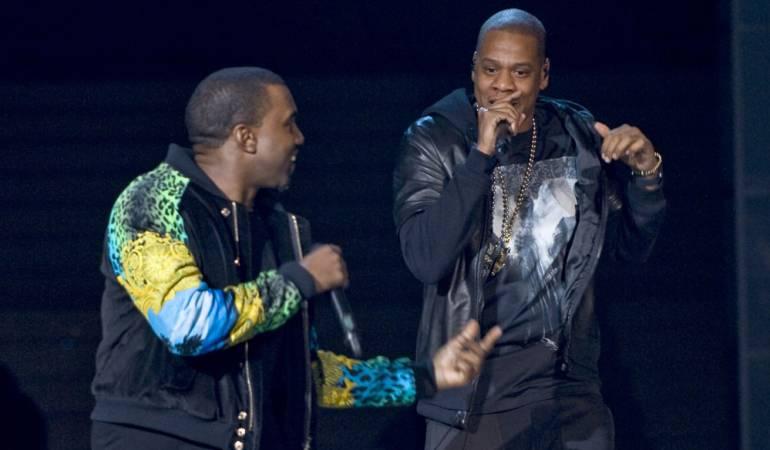 Kanye West y Jay Z durante una actuación conjunta hace unos años
