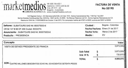 Suspenden contrato de Presidencia con Subatours por subcontratación de Marketmedios