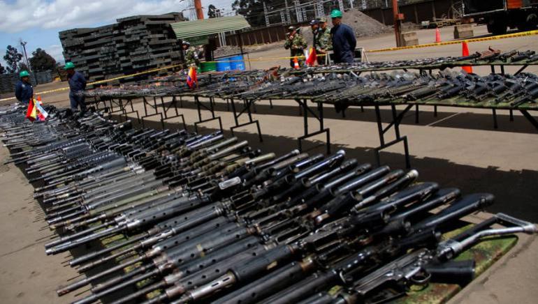 ARMAS FARC: ONU empezó la destrucción del armamento de las Farc