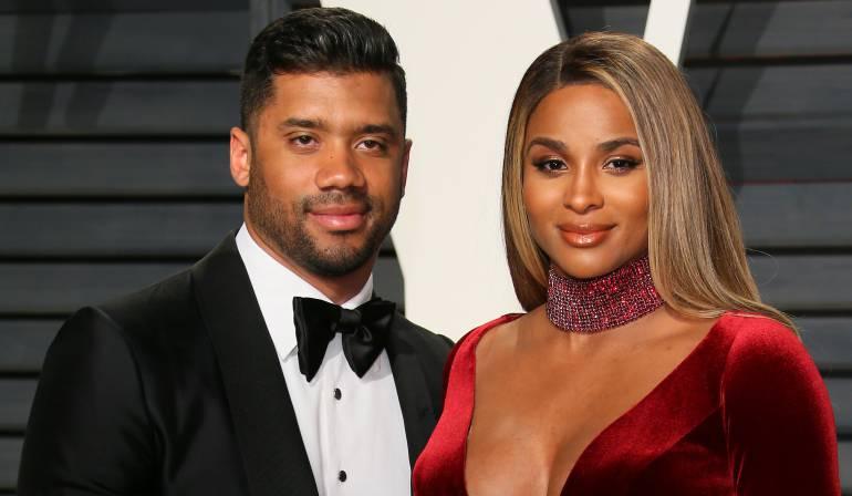 La cantante Ciara junto a su esposo, el jugador de fútbol americano, Russell Wilson.