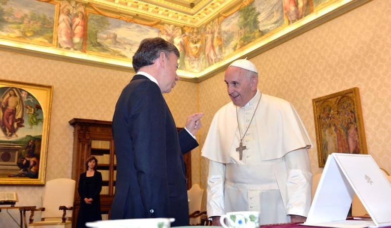 Visita del papa a Colombia: El papa nos va a decir que tomemos el paso para reconciliarnos como Nación: Santos