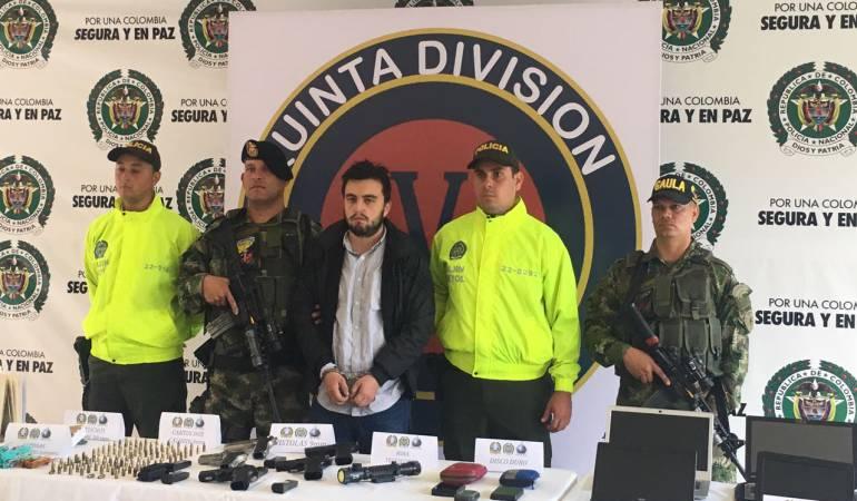 Capturado 'Mateo' del Eln por la Fuerza Pública en Antioquia
