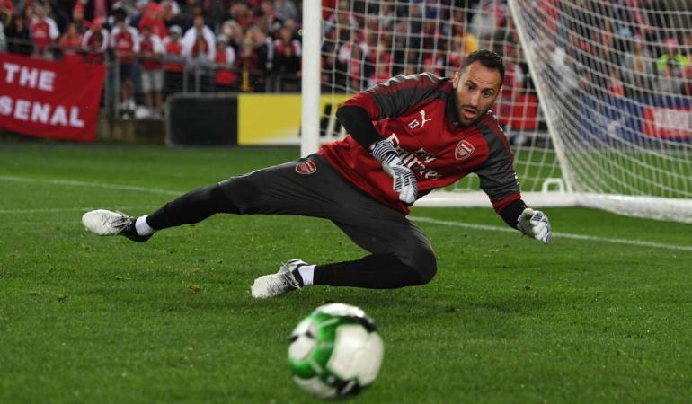 David Ospina: David Ospina tuvo 45 minutos en el triunfo del Arsenal