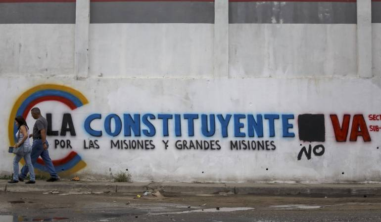 Pared con propaganda de la Asamblea Nacional Constituyente, Caracas