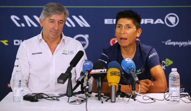Nairo Quintana retroceso Tour Movistar: Nairo ha tenido una especie de retroceso en este Tour: Unzue, director del Movistar