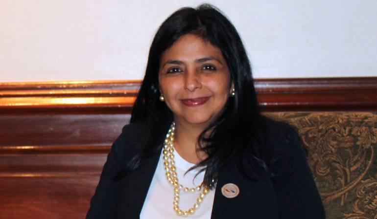 Delcy Rodríguez, excanciller venezolana