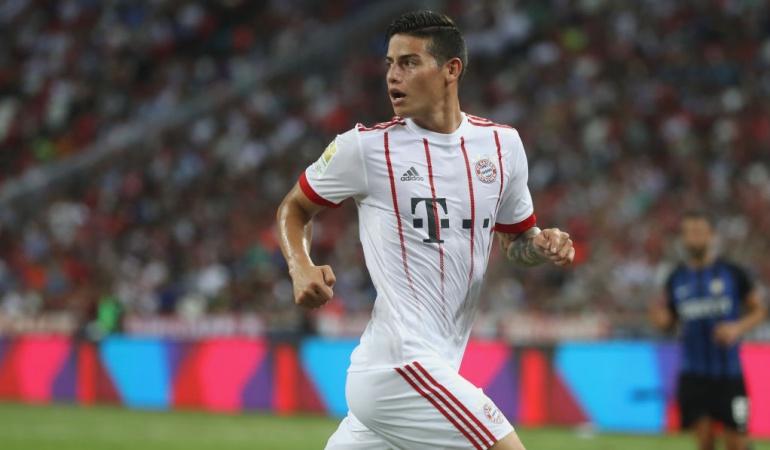 James Rodríguez se la juega en la Audi Cup — Por la titular