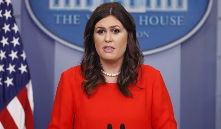 Sarah Huckabee, portavoz de la Casa Blanca
