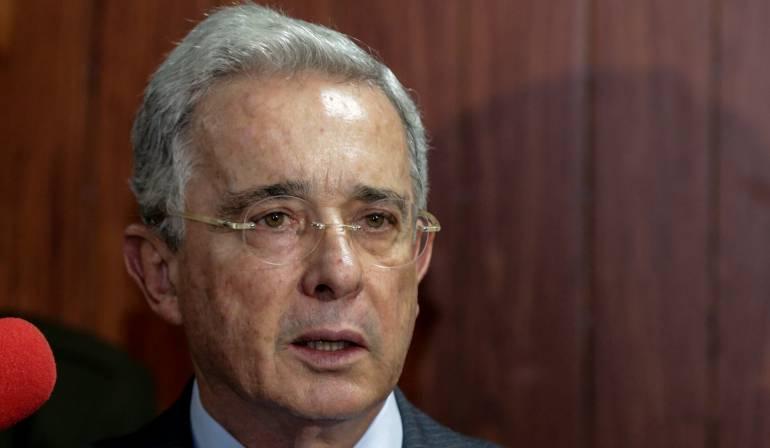El senador Alvaro Uribe