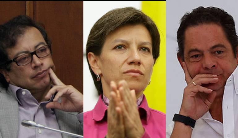 Encuesta intensión de voto presidente Colombia en las regiones: El cabeza a cabeza de Vargas, Petro y Claudia López en las regiones