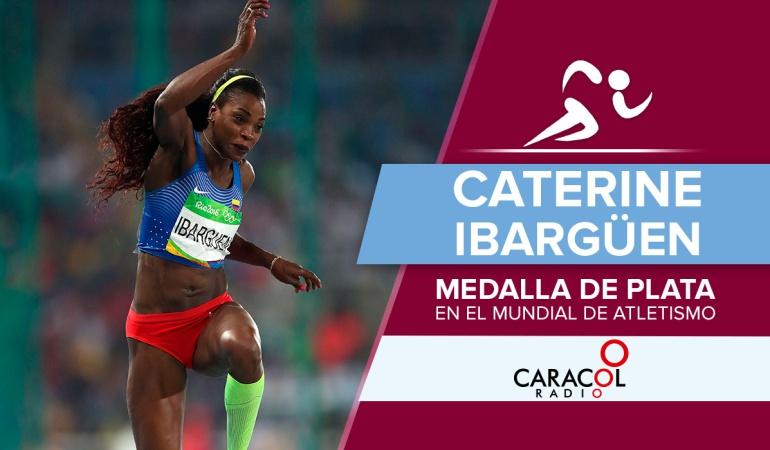 Caterine Ibargüen medalla de plata salto triple Londres: Caterine Ibargüen se queda con la medalla de plata en el Mundial de Atletismo
