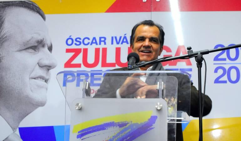 Óscar Iván Zuluaga, durante la campaña presidencial 2014.