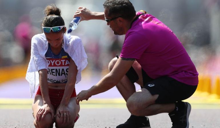Sandra Arenas quinta Mundial Atletismo récord nacional: Sandra Arenas, quinta en los 20 km del Mundial y bate récord nacional