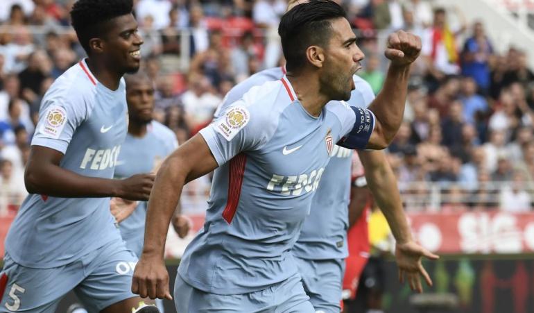 Falcao anota triplete y le da la victoria al Mónaco