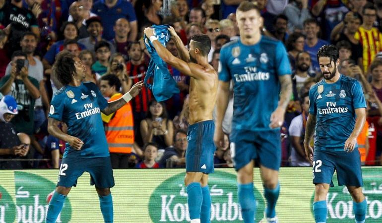 Real Madrid Barcelona: Real Madrid gana al Barcelona en la ida de la Supercopa
