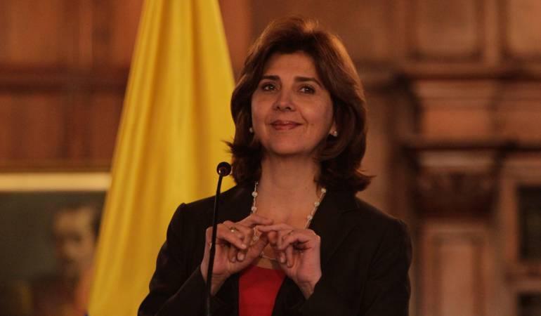 María Ángela Holguí, ministra de Relaciones Exteriores.