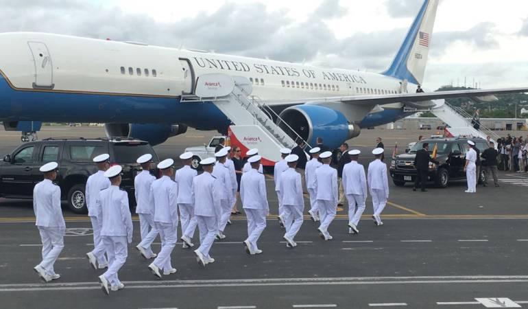 Llega vicepresidente de Estados Unidos a Cartagena.