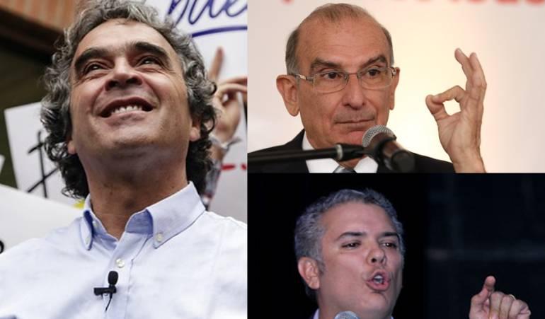 Camino a la presidencia: Fajardo, De la Calle e Iván Duque lideran sondeo de la Andi, sobre presidenciales 2018
