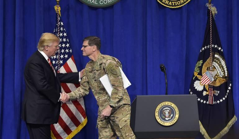Trump en el Departamento de Defensa de los EE.UU.