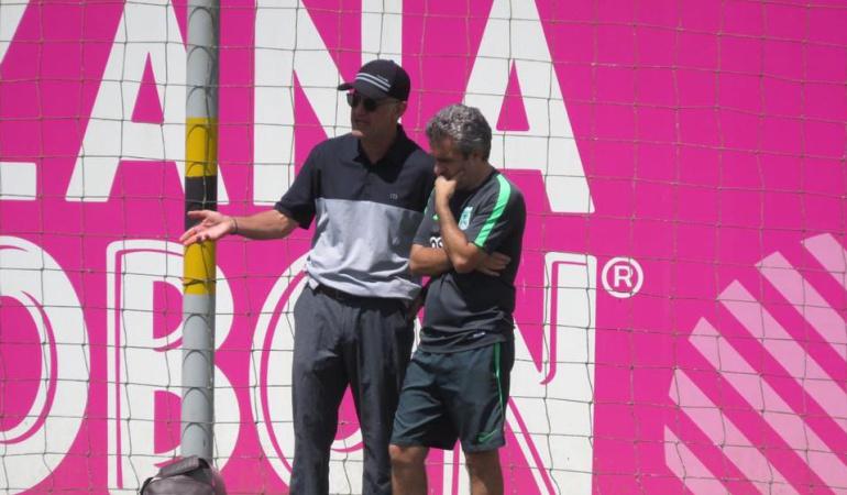 Juan Carlos Osorio: Juan Carlos Osorio visitó el entrenamiento de Nacional