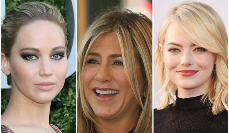 Jennifer Lawrence, Jennifer Aniston y Emma Stone.