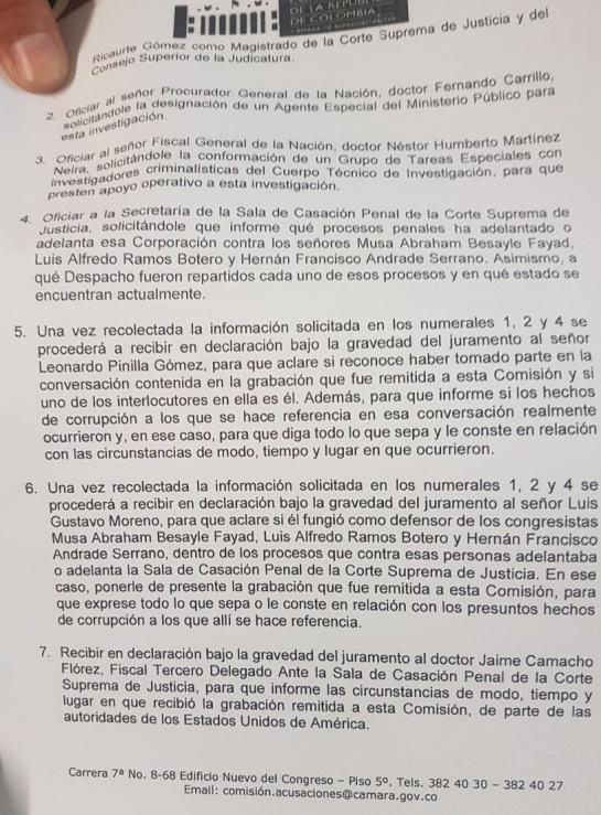 Caso Fiscal Anticorrución: Luis Gustavo Moreno será citado a declarar en la Comisión de Acusación