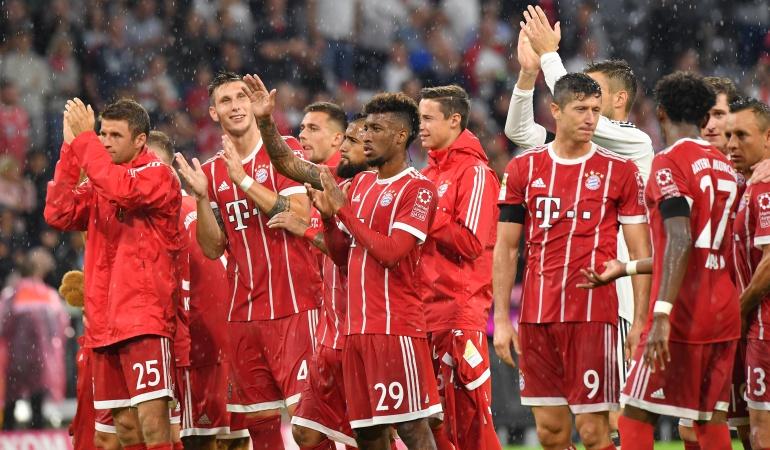 Futbolistas colombianos: Sin James, Bayern debuta con victoria en Liga de Alemania