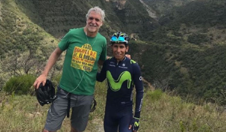 Peñalosa Nairo Quintana Villa de Leyva: Enrique Peñalosa entrenó con Nairo en las montañas de Villa de Leyva