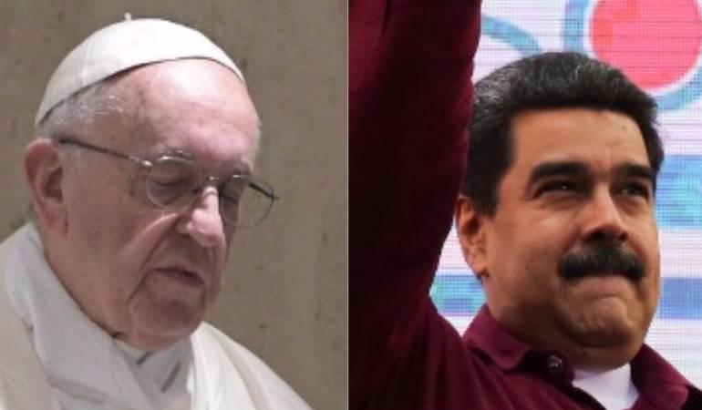"""Maduro pide ayuda al papa: Maduro pide ayuda a papa Francisco """"para impedir que Trump invada Venezuela"""""""